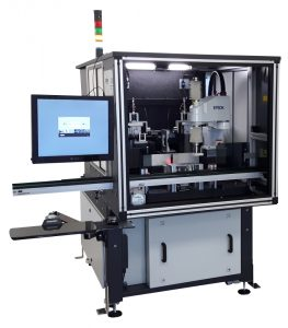 View of Optec Wire-Stripping Machine